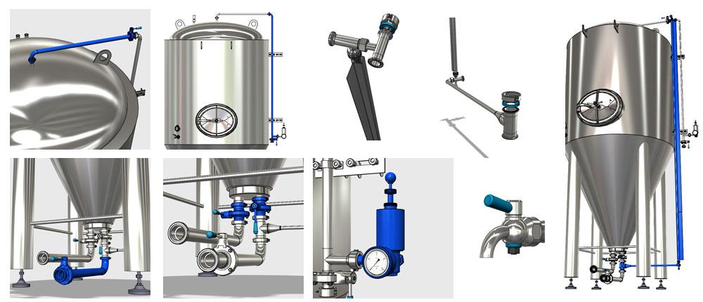 CCT M components 1000x430 - Холодный блок - оборудование для холодного процесса производства пива.