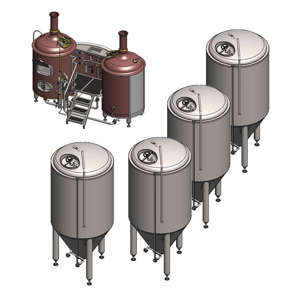 microbreweries breworx classic 500 - Breweries - microbreweries - fully equipped systems for the beer production