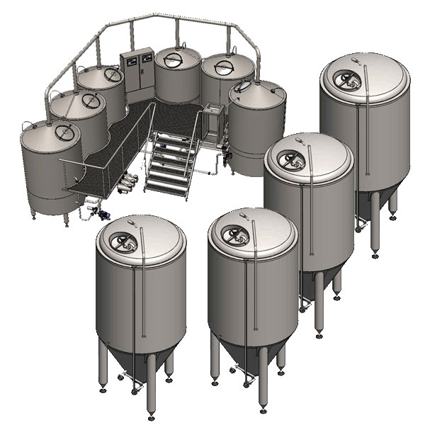 microbreweries breworx oppidum 001 - Breweries - microbreweries - fully equipped systems for the beer production