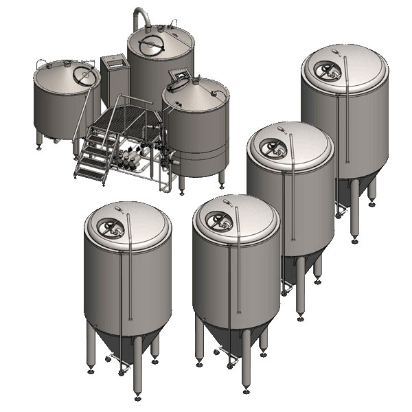 microbreweries breworx tritank 001 - Breweries - microbreweries - fully equipped systems for the beer production