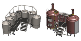 brewhouses 1 - Components and equipment for production of beer and cider