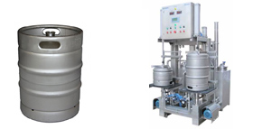 Machines for filling beer into kegs