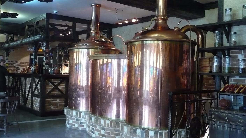 Пивоварня пивоварни Breworx Classic - медная конструкция
