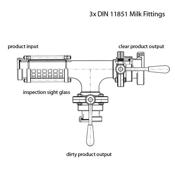 PFH Разветвитель шланга для напитков - DIN 11851