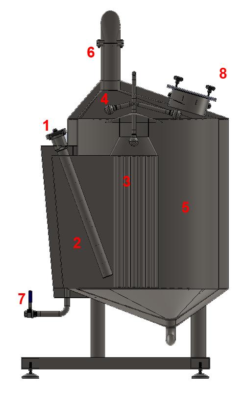 BH BWLE 300 800X500 08 чайник для сусла - BREWORX LITE-ECO | Технические характеристики варочного цеха
