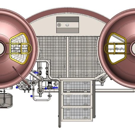brewhouse breworx modulo 500pmc 004 456x456 - Hot block | Equipment for malt processing and wort production