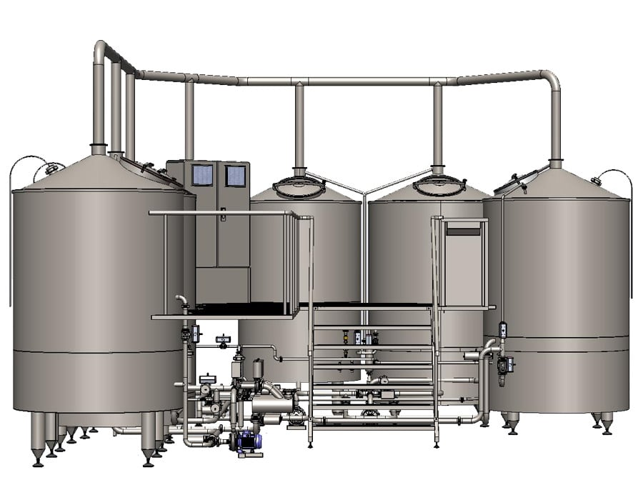 brewhouse breworx oppidum 2000j 002 - Hot block | Equipment for malt processing and wort production