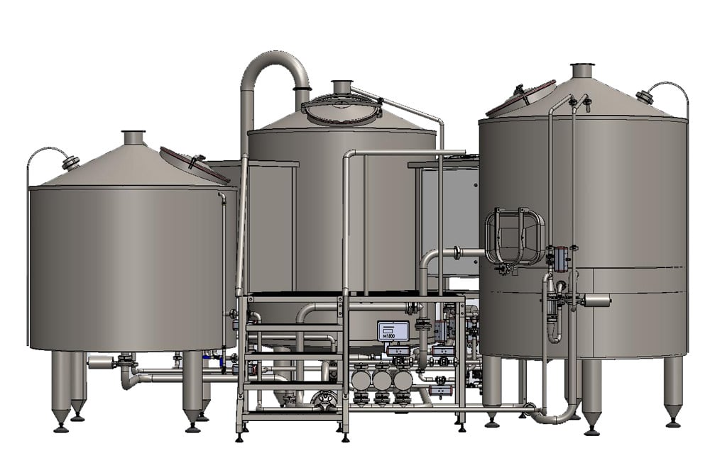 brewhouse breworx tritank 1000cd 003 - Hot block | Equipment for malt processing and wort production