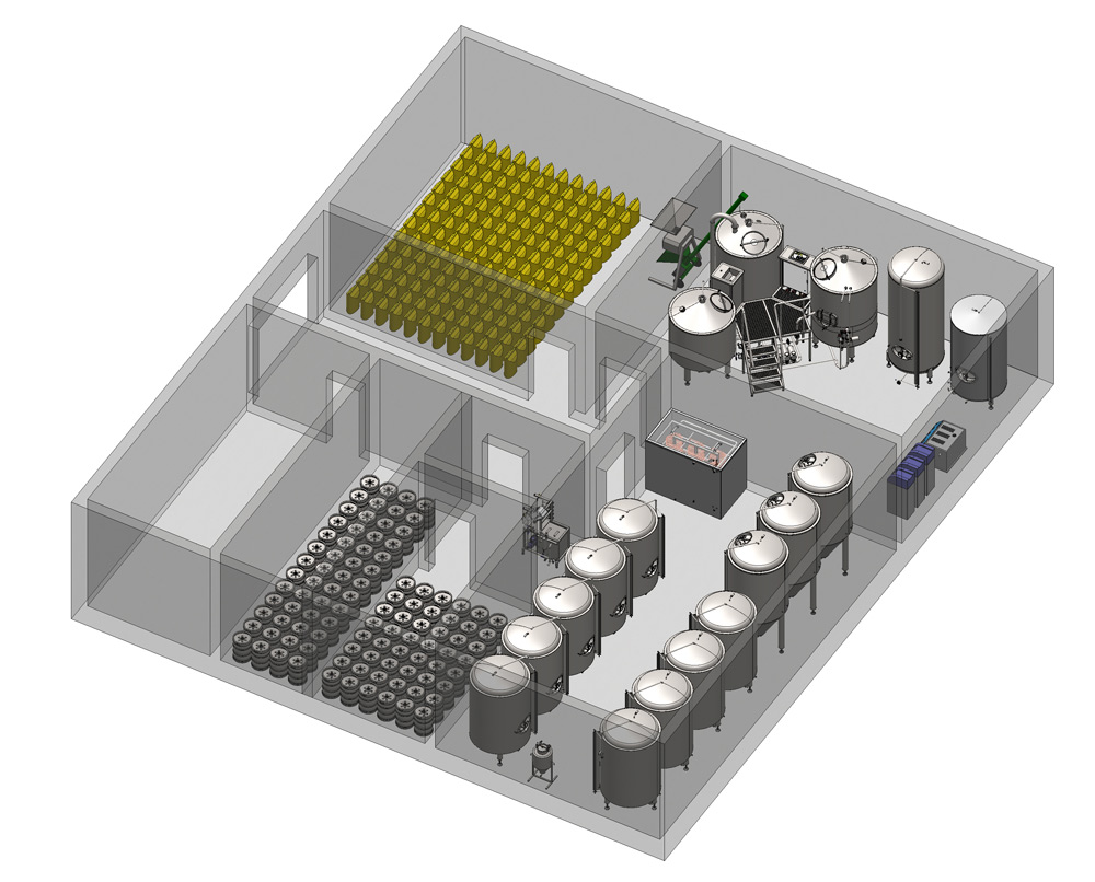 Breworx Compact brewery - an example layout