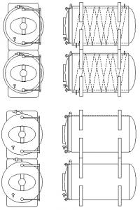 резервуар для созревания пива горизонтальный 01 - Холодный блок - оборудование для холодного процесса производства пива