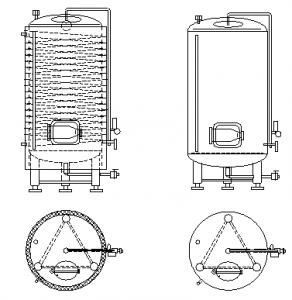вертикальный пивной резервуар для созревания 01 - технология процесса ферментации и созревания