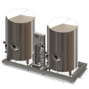 Chladící jednotka Wort pro systém pivovaru Modulo