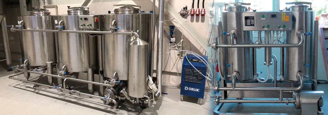 CIP stations - equipment for the cleaning, rinsing, sanitizing and sterilization of all vessels and pipes