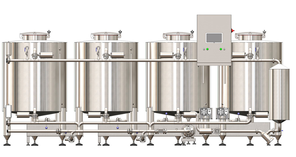 Static CIP stations with volume of the tanks from 500 up to 1500 liters