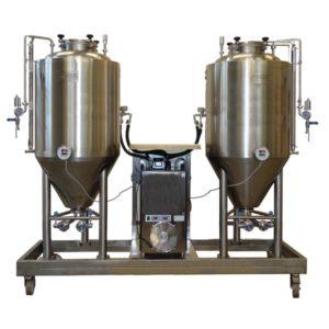 Compact beer fermentation units