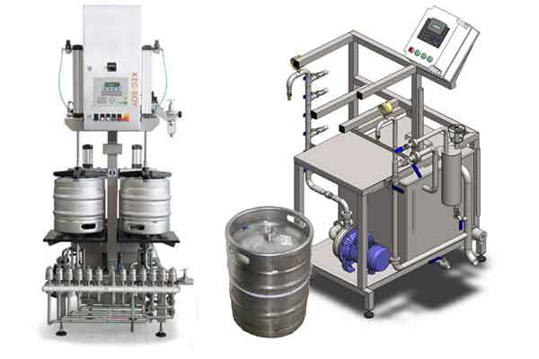 Equipment for the the filling of beer into kegs