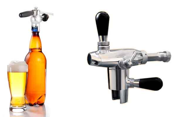 Equipment for the the filling of beer into PET bottles
