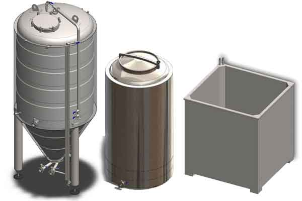 Primary fermentation tanks 01 - Components and equipment for production of beer and cider