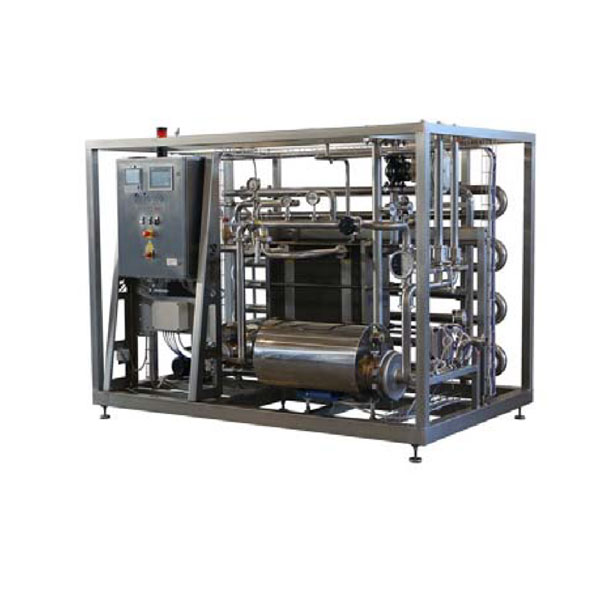 Flow-through cider pasteurizers