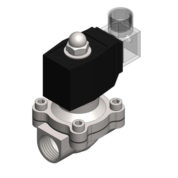 Electric solenoid valves for tanks