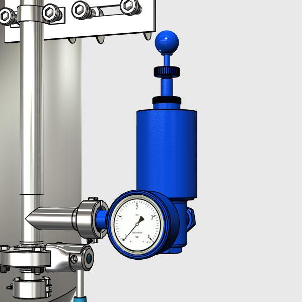 Pressure adjusting mechanism