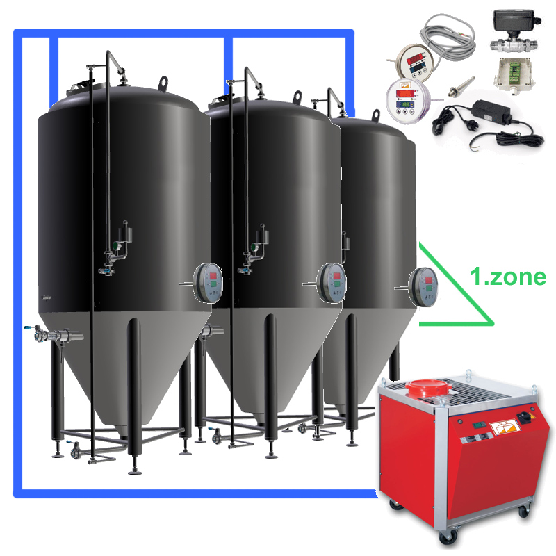 CBFSOT 1Z 02 Complete beer fermentation sets ontank - BPT | Beer production tanks