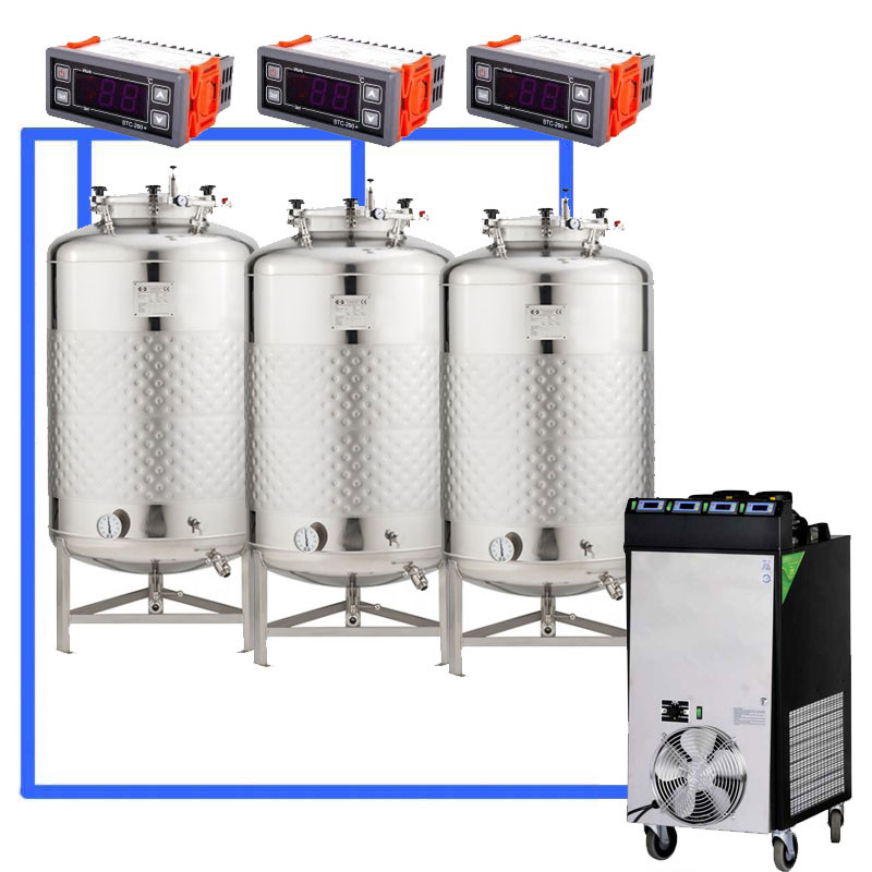 Compact fermentation systems with low-pressure tanks 2.5 bar