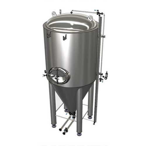 Modular cylindrically-conical cider fermentation tanks