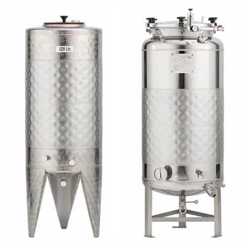 Цилиндрические цистерны для ферментации сидра