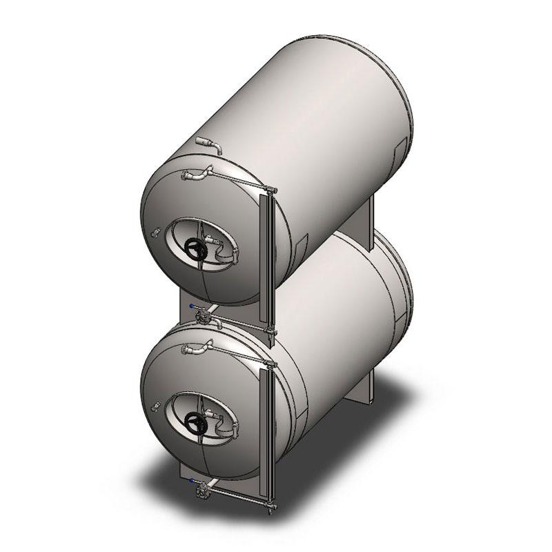 BBTHI - Цилиндрические емкости для кондиционирования и хранения пива: горизонтальные, изолированные, охлажденные воздухом