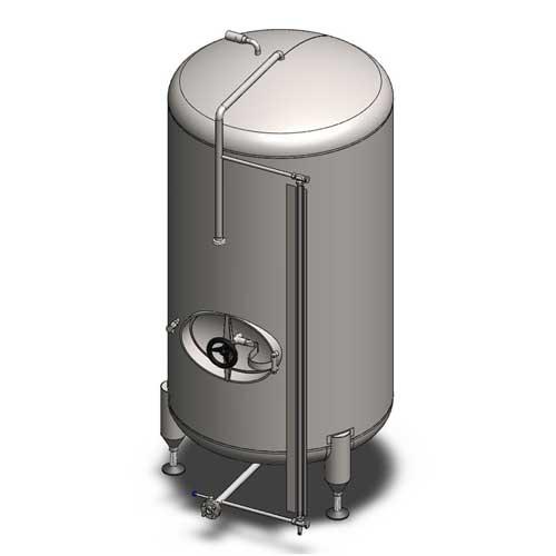 BBTVN - Цилиндрические емкости для кондиционирования и хранения пива: вертикальная ориентация, неизолированные, охлаждаемые воздухом