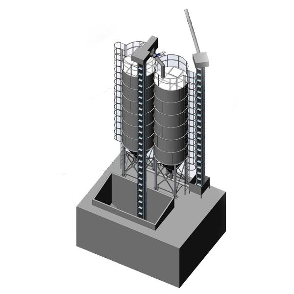 MSS-2 × 40 Бункер для хранения солода 2x40m3