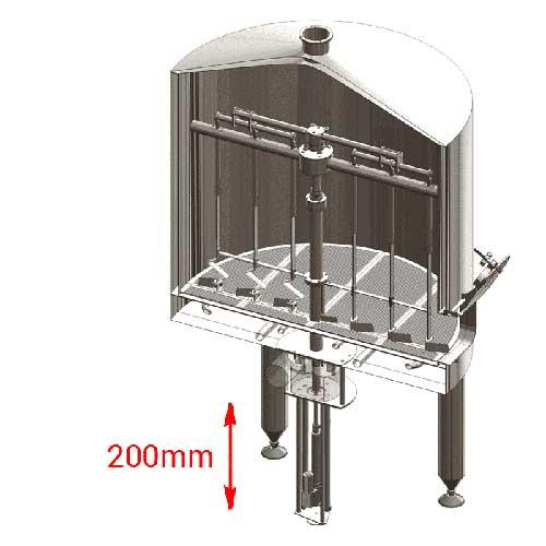 Electric lift of knife-stirrer