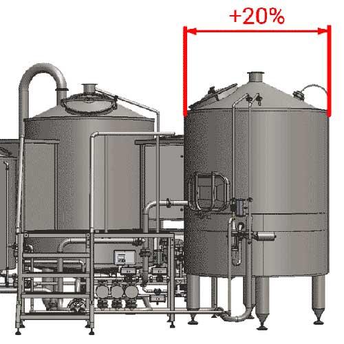 Enlarged filtering tanks