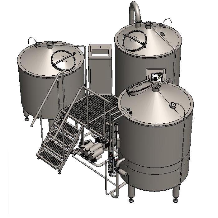 BH-BWTT-1000 Μηχάνημα βρασμού χυμών BREWORX TRITANK 1000