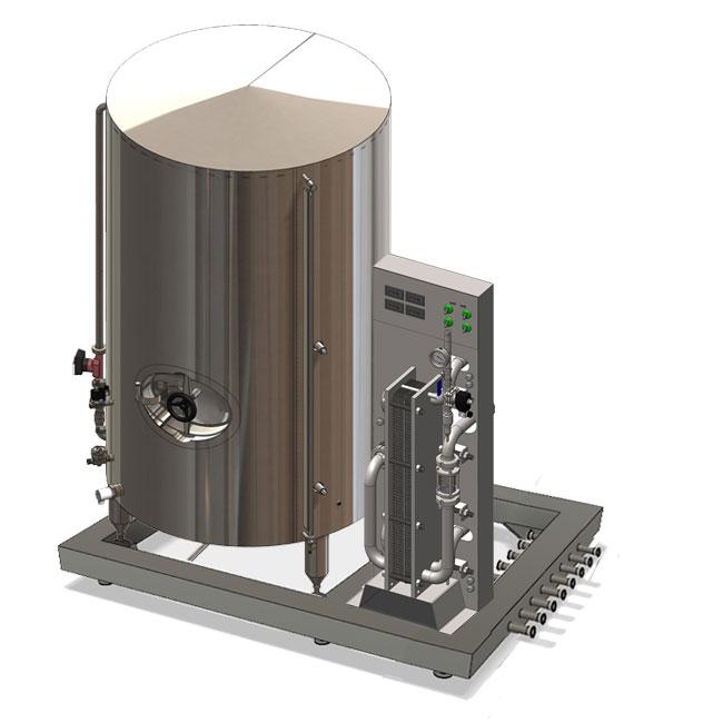 Modulo sistema di raffreddamento del mosto 1